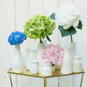 DIY Vasen mit Hortensien