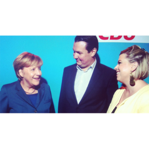 Gründerzeit: Angela Merkel und Franziska von Hardenberg