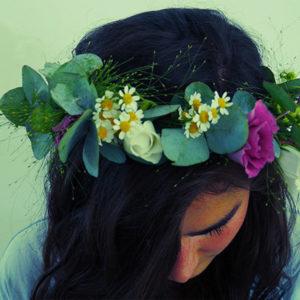 Haarkranz aus Blumen