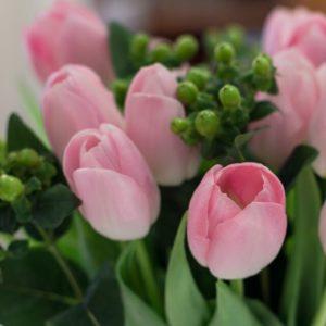 Tulpen und Hypericum