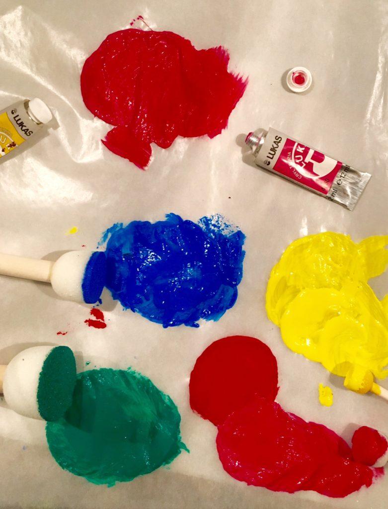 Farben für DIY-Vase