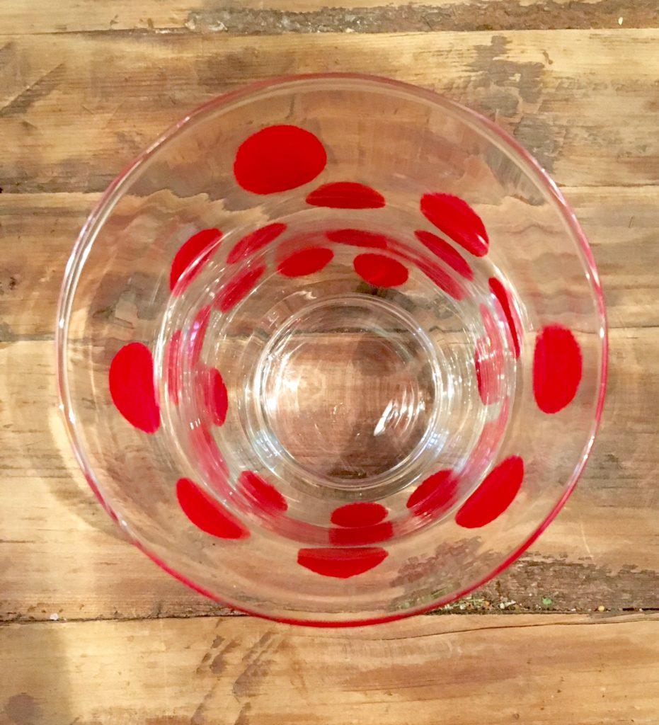 DIY-Vase fertig von oben