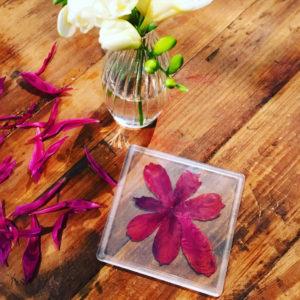 Untersetzer mit Blumen