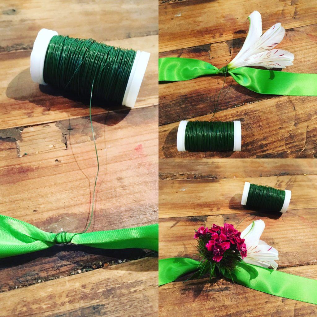 Entstehung DIY-Blumenband