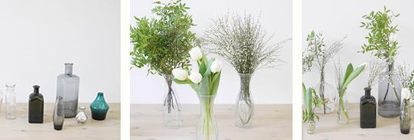 Blumen in Flasche