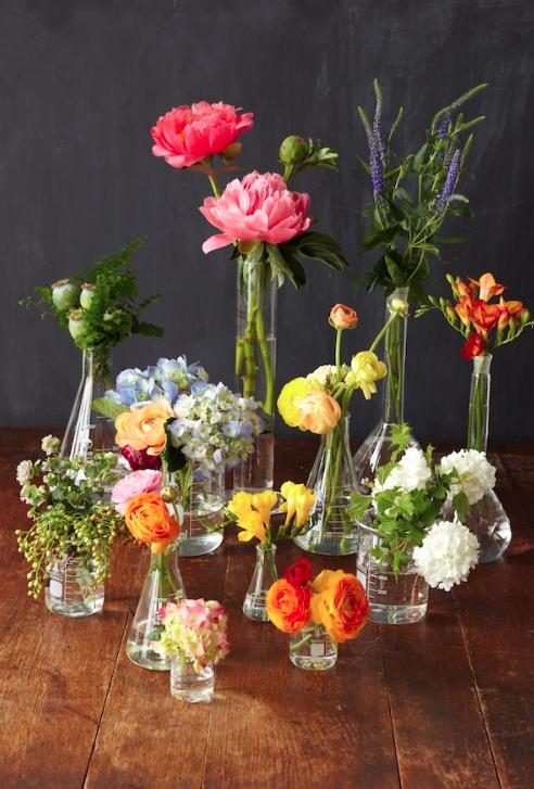 Blumen in Flaschen