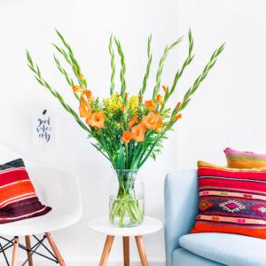 Gladiolen und Solidago