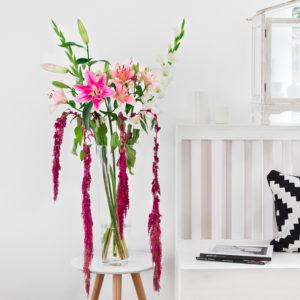 Gladiolen, Lilien und Amaranth