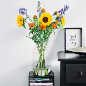 Sonnenblume, Eisenhut, Färberdisteln