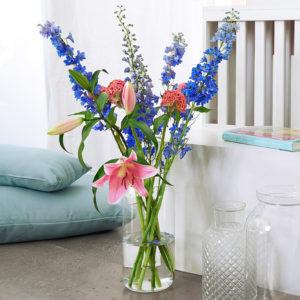 Delphinium, Celosia & Lilien