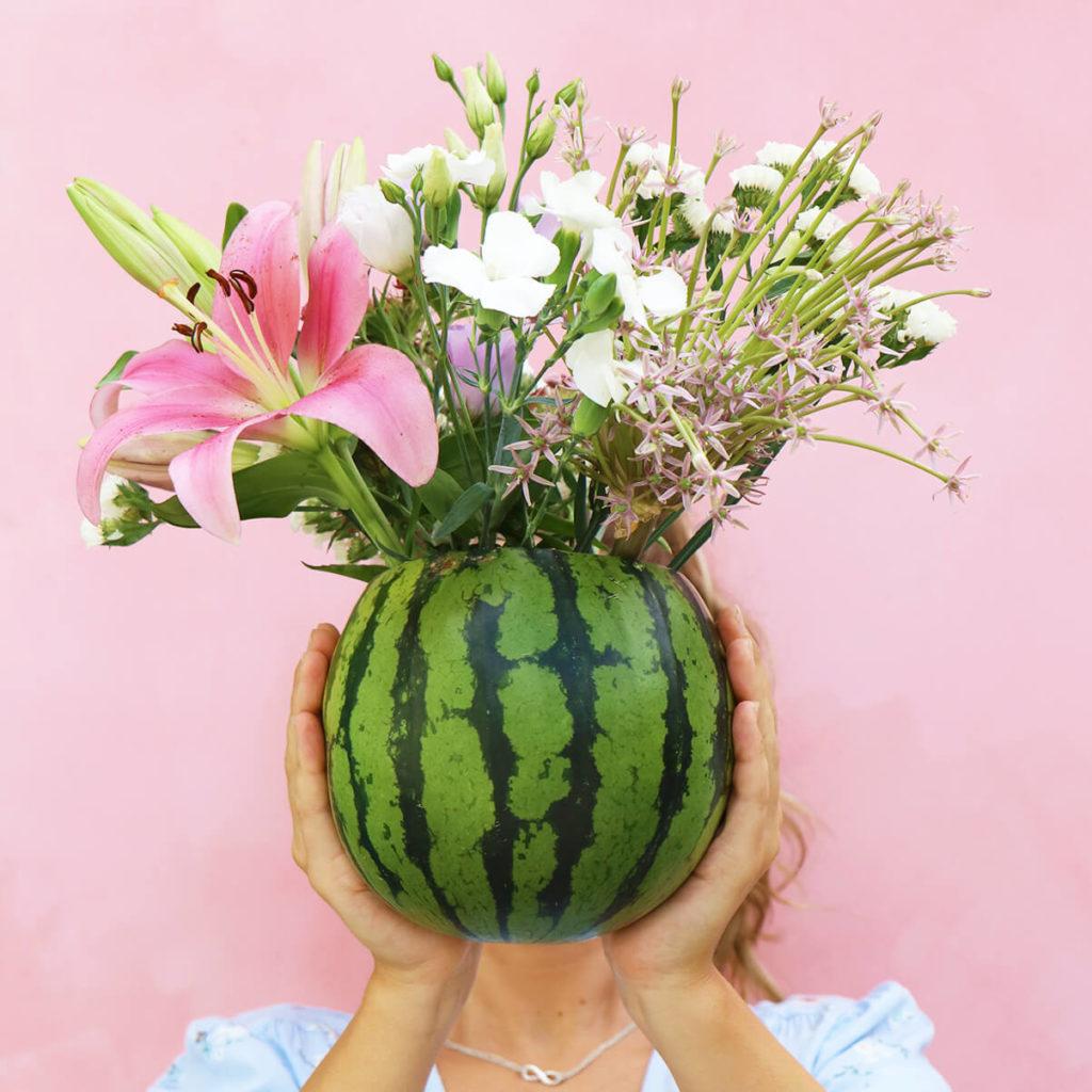 Wassermelone_als_Vase