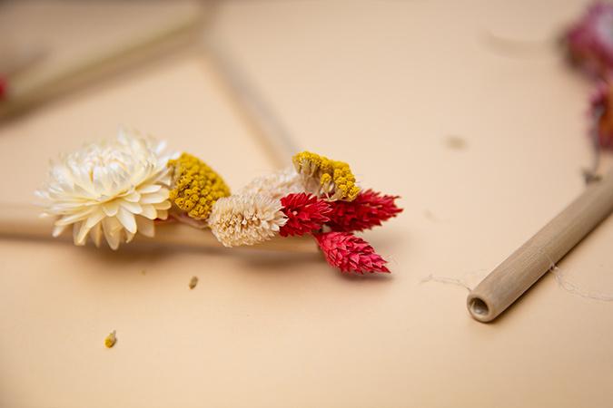 DIY Trockenblumen Triangel