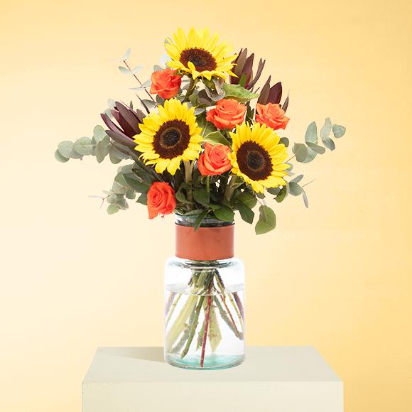 Pflegetipps Sonneblumen, Rosen, Protea und Eukalyptus